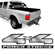 Adesivo 4x4 Power Stroke Lateral da Caçamba Ranger 2004 a 2006