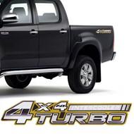 Adesivo 4x4 Turbo Intercooler Hilux 2005 2006 2007 2008