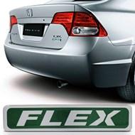 Adesivo Emblema Resinado Flex do Porta Malas - City Civic Fit - Verde