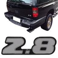Adesivo Resinado 2.8 da Tampa Traseira S10 e Blazer 2002 2003 Prata