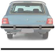 Borachão do Parachoque traseiro - Caravan 1980 a 1984 - Preto