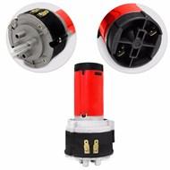 Buzina Eletropneumática 3 Cornetas Vermelhas 12V Com Mini Compressor
