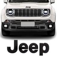 Emblema Jeep do Capô - Renegade 2015 a 2020 Preto