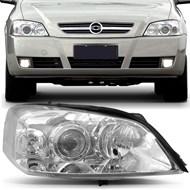Farol Astra 2003 a 2011 Foco Duplo - Máscara Cromada