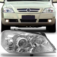 Farol Astra 2003 a 2011 Máscara Cromada Eétrico com Motor Arteb Lado Direito (Passageiro)