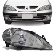 Farol Megane 2000 2001 2002 2003 2004 2005 Foco Simples Lado Direito (Passageiro)