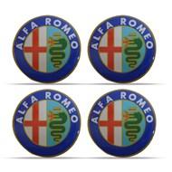 Jogo de Adesivos Resinados das Calotas Alfa Romeo 48 mm