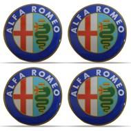 Jogo de Adesivos Resinados das Calotas Alfa Romeo 58 mm