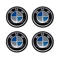 Kit de Emblema Resinado Para Calotas e Rodas BMW 48MM 4 Peças