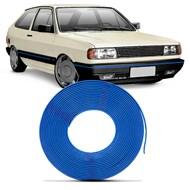 Kit Friso de Parachoque Gol Parati Saveiro Voyage 87/94 Pointer Passat 79/89 6 Metros Azul