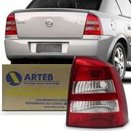 Lanterna Traseira Astra Sedan 2003 a 2011 Ré Cristal Arteb Lado Direito (Passageiro)
