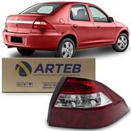 Lanterna Traseira Prisma 2007 a 2012 - Ré Cristal - Arteb