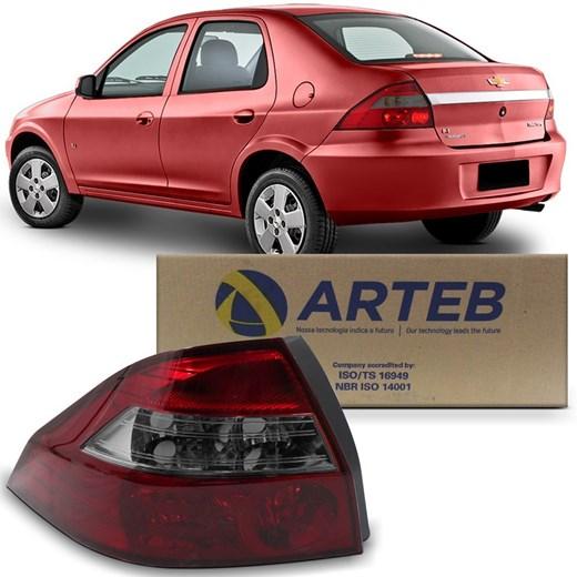 Lanterna Traseira Prisma 2007 a 2012 - Ré Fumê - Original Arteb