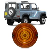 Lanterna Traseira Redonda Land Rover Defender 90/110/130 1992 a 2000 - Laranja