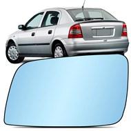 Lente do Retrovisor com Base Astra 1999 a 2011 Azul Metagal Lado Esquerdo (Motorista)