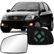Lente do Retrovisor com Base Celta 2007 a 2015 Meriva 2002 a 2012 Prisma 2007 a 2012 Lado Esquerdo (Motorista)