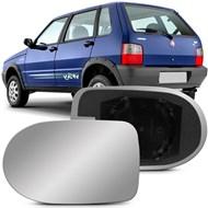 Lente do Retrovisor com Base Uno Mille Economy 2010 2011 2012 2013 Metagal Lado Esquerdo (Motorista)