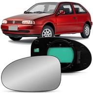 Lente do Retrovisor Gol Parati Saveiro G2 Bola 1995 a 1999 Lado Esquerdo (Motorista)