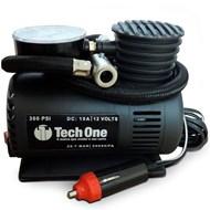 Mini Compressor de Ar Automotivo Portátil - Techone - 12v com Manômetro
