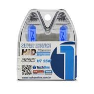Par Lâmpada H7 Super Brancas TechOne - Efeito Xenon 8500k