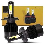 Par Lâmpada Super LED TechOne Code Standard Bivolt - Encaixe H4 8000k