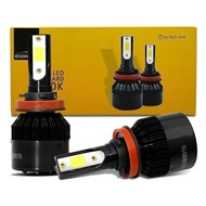 Par Lâmpada Super LED TechOne Code Standard Bivolt - Encaixe H8 H9 H11 6000k