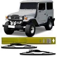 Par Palheta do Limpador Dianteiro Dianteiro Fusca Toyota Bandeirante Jeep Willys Dyna